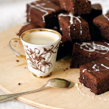 Кофе и брауни